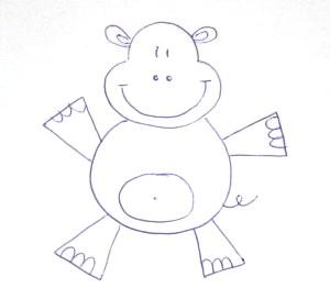 Рисунок бегемота