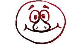 как нарисовать Лосяша из смешариков