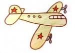 как нарисовать самолёт просто