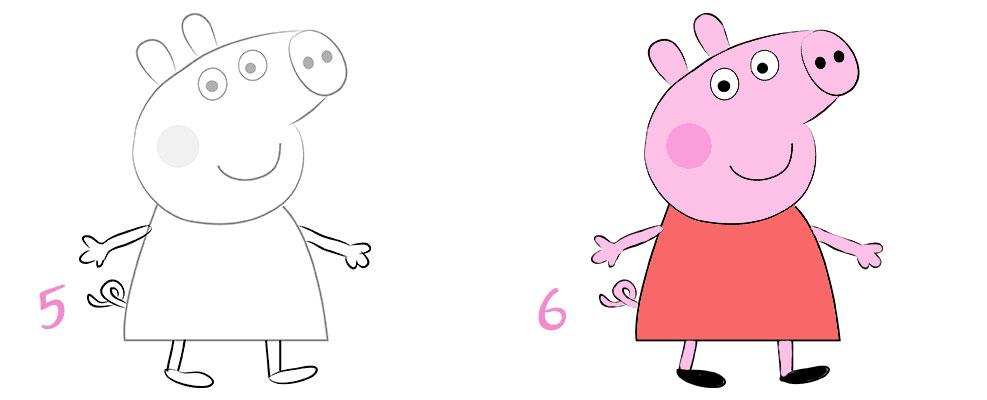 Смотреть как рисуют свинку пеппу